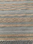 Vloerkleed geweven jute, salie wol, wit PET katoen 160x230cm