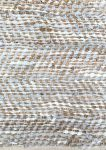 Vloerkleed jute & leer wit/grijs geweven 80x140cm
