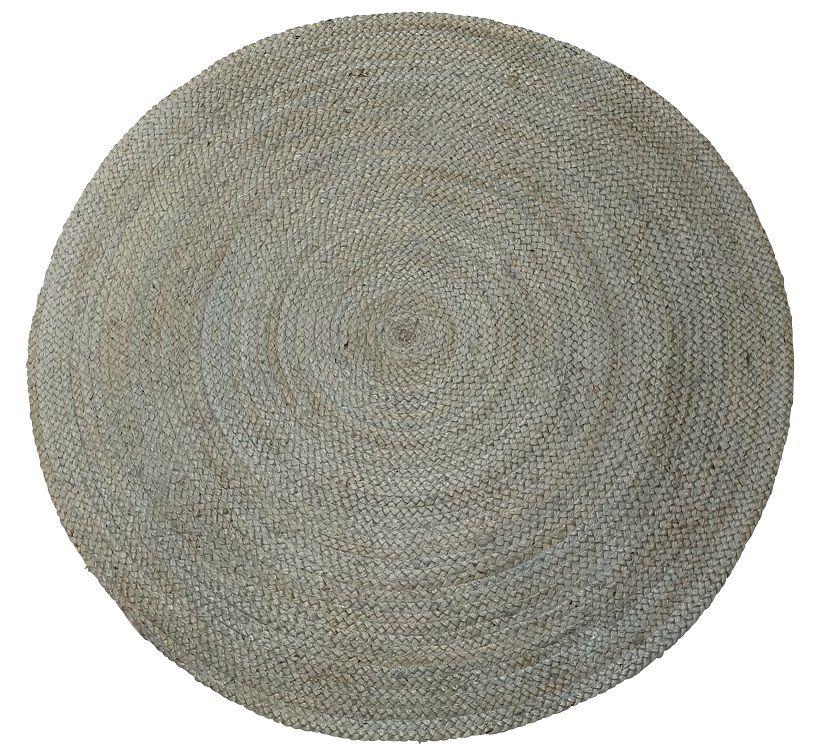 vloerkleed jute rond 120 cm pale aqua