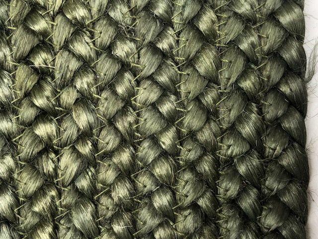 vloerkleed jute rond 120cm bosgroen