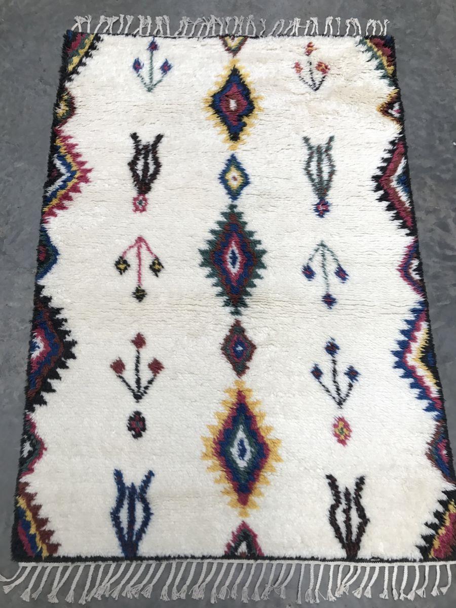 vloerkleed puur nieuw zeeland wol geometrisch patroon 190x290cm