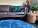 Vloerkleed Tencel ø150cm Blauw