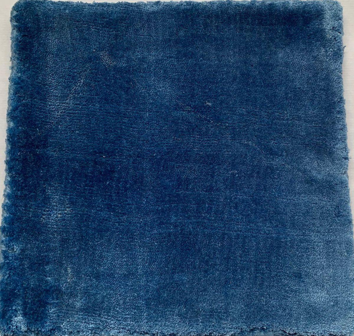vloerkleed tencel blauw rond 200cm