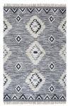 Vloerkleed Wol Macramé Zwart/Wit 244x 305cm