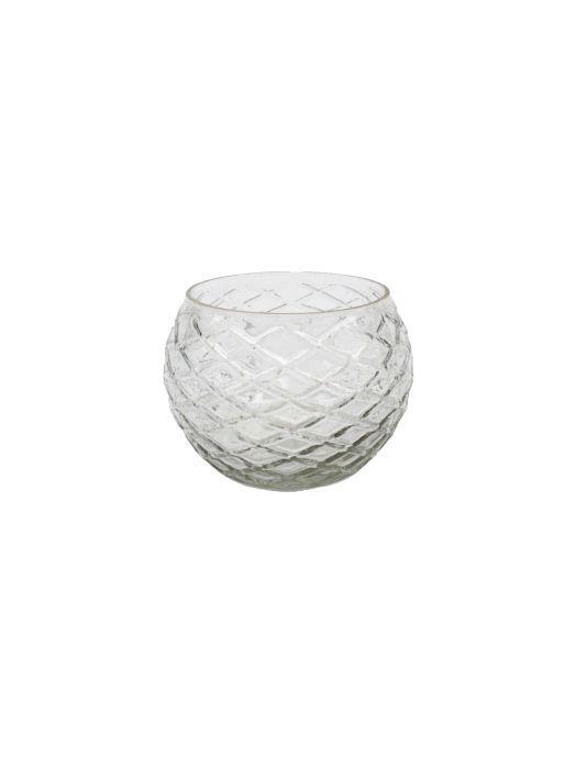 votive glass diamond clear 9x9x6cm