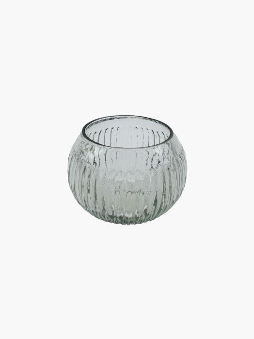 votive glass lines clear 11x11x75cm