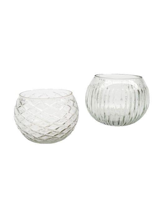 waxinehouder glastransparant 11x11x75cm
